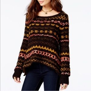 Free People   Black Through the Storm Sweater
